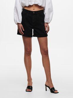 Vega mom fit denim shorts
