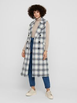 Lou double breasted long plaid vest