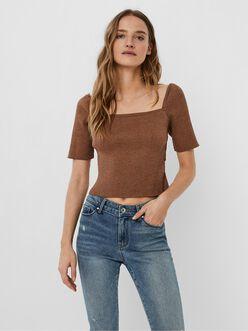 Melina square neck cross-back t-shirt