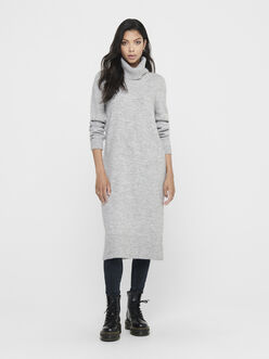 Brandie long knit turtleneck dress