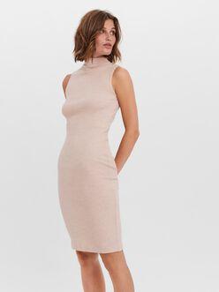 Tia high neck sleeveless bodycon dress