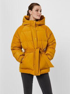 Mila belted puffer coat