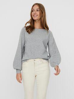 Brillant boatneck ballon sleeves sweater