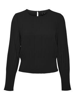 Uris long sleeves plissé blouse