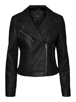 FINAL SALE - Hope faux-leather moto jacket