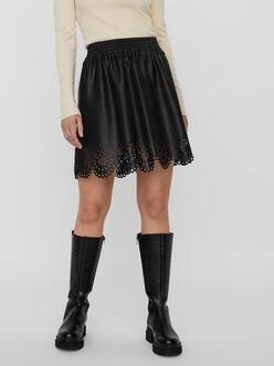 Hailey high waist mini coated skirt