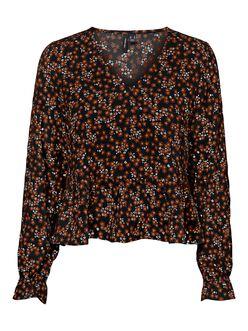 Salina v-neck floral peplum blouse