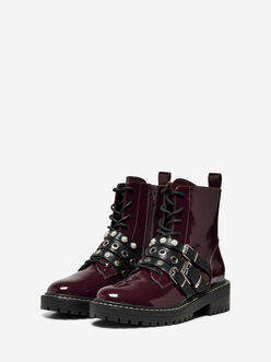 Bold combat boots