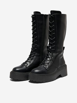Bossi tall lace up boots