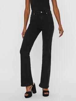Saga high waist flare leg fit jeans