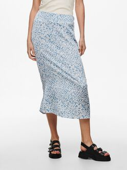 Mayra high waist floral midi skirt