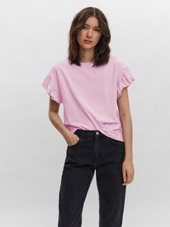 Panda frill sleeves t-shirt