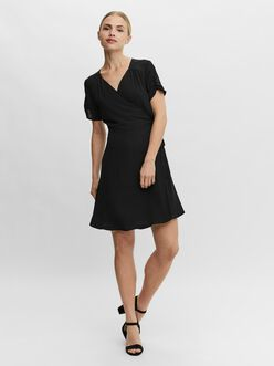 Poel ruched sleeves wrap dress