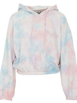 Hella cropped tie-dye hoodie