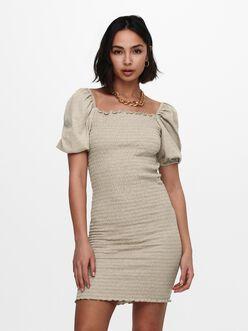 Nalena squared neckline smocked dress
