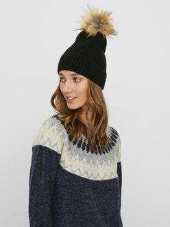 Tuque en laine à pompon Katie