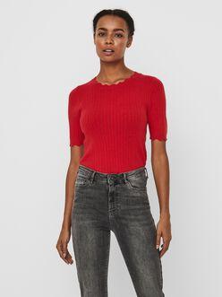 Karis scallop edge pointelle knit sweater