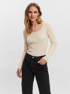 AWARE   Renata long sleeve square neck t-shirt