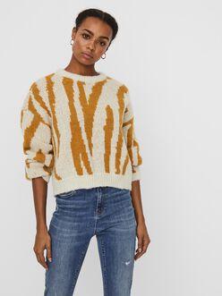 Zelma printed knit sweater