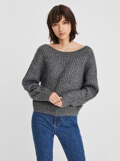Pixie v-back knit sweater