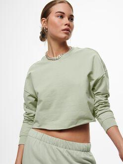 Zoey cropped raw hem sweatshirt