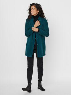 Katrine high collar long brushed jacket