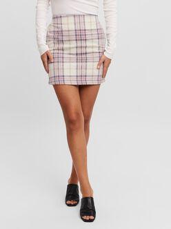 Shay checked mini skirt