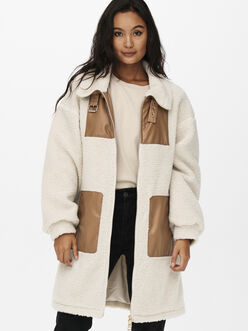 Catia high strapped collar teddy coat