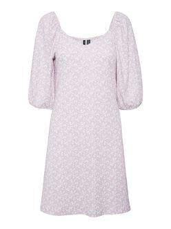 Gelina puff sleeves floral dress
