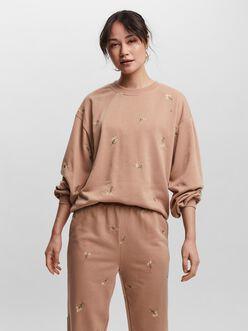 Natalie embroidered oversize sweatshirt