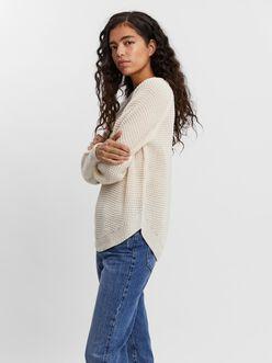Ricie curved hem sweater