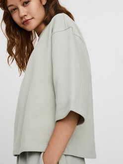 AWARE |Prime boxy fit cropped sweat t-shirt