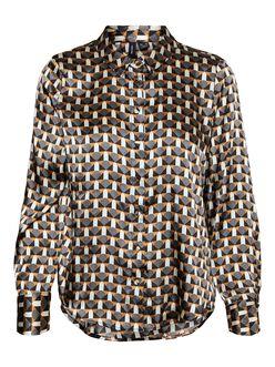 Xara scarf print blouse