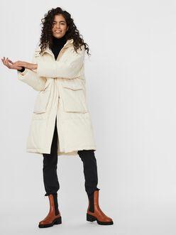 Elanor hooded long puffer jacket
