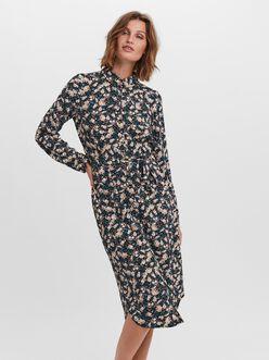 Sasha floral print shirt dress