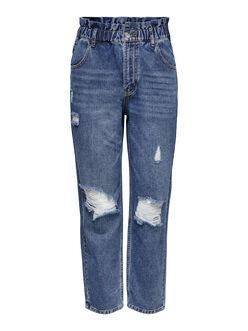 Ova high paperbag waist carrot fit jeans