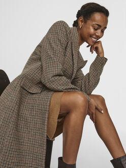Blast wool-blend check jacket