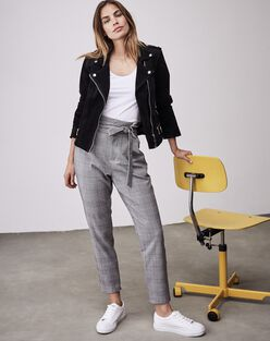 Eva paperbag plaid pants