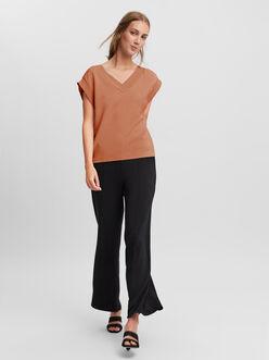 Silky v-neck sleeveless vest