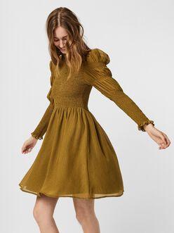 Sindy long sleeves smocked dress