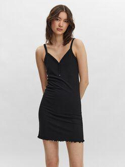 Maria button neckline stretchy dress