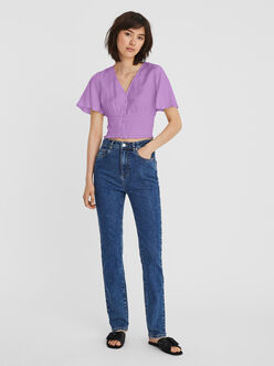 Kamilie v-neck butterfly sleeves blouse
