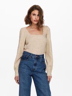 Karinna square neck ribbed sweater