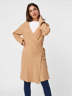 Bria rib-knit wrap dress