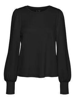Silky puff sleeves sweatshirt
