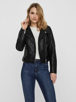 Kerri faux-leather moto jacket
