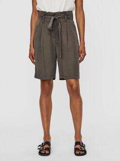 Viviana long belted Tencel Shorts