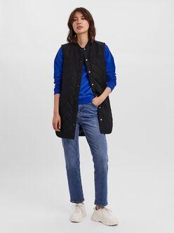Simone quilted sleeveless coat