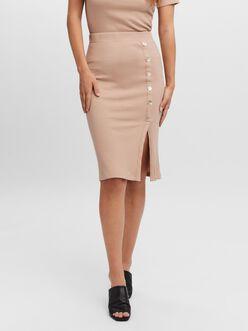 Polly high waist midi pencil skirt