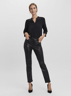 Brenda high waist straight fit coated jeans